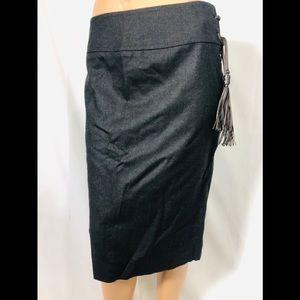 Yves Saint Laurent YSL 36 gray straight skirt